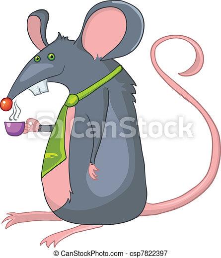 Cartoon Character Rat - csp7822397