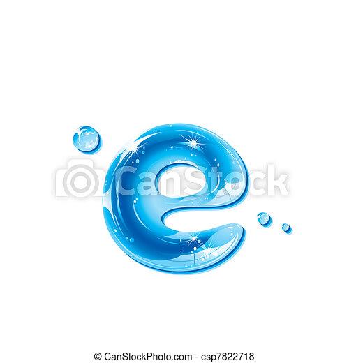 Water Liquid Letter -Small Letter e - csp7822718