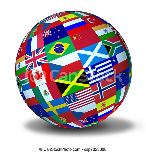 World flags sphere - csp7823888