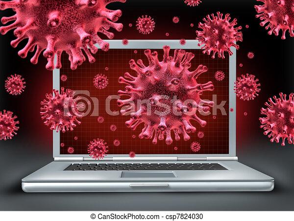 Computer virus - csp7824030