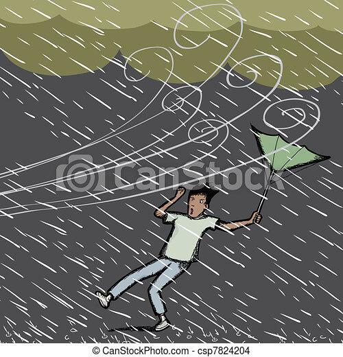 Caught in Rain - csp7824204
