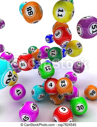 a set of colouored bingo balls - csp7824545