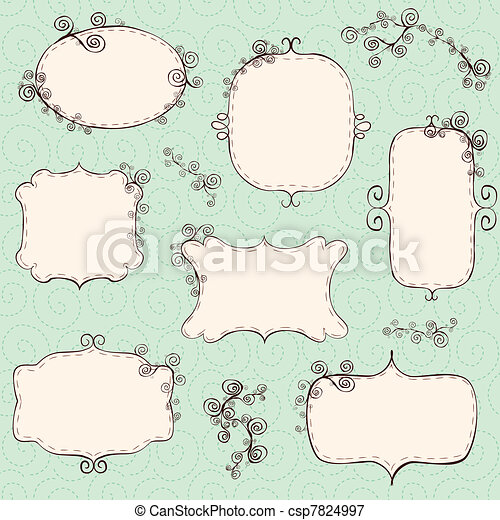 Swirly frames collection - csp7824997