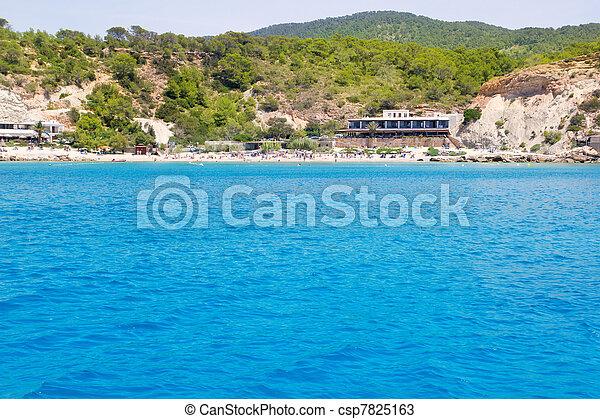 Cala d Hort Ibiza island in Balearics - csp7825163