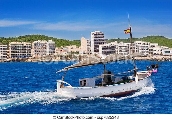 Ibiza boats in San Antonio de Portmany bay - csp7825343