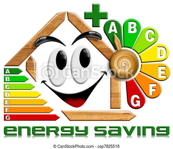Energy saving wood with flower cloc - csp7825518