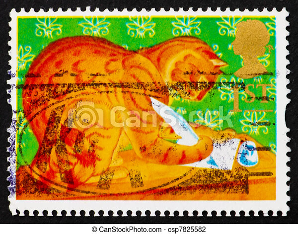 Postage stamp GB 1994 Orlando, the Marmalade Cat - csp7825582