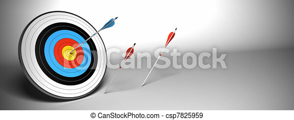 Target arrow over a gray background - csp7825959