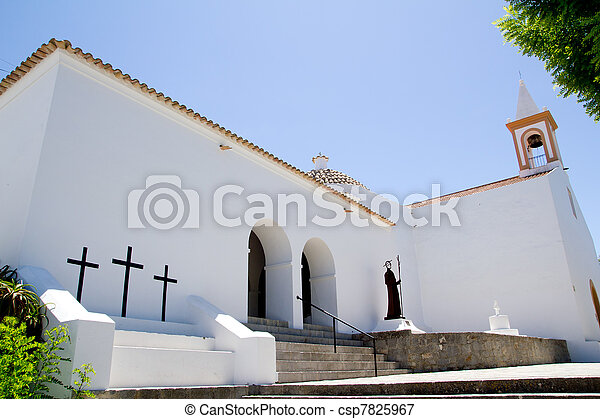 Ibiza Sant Joan Labritja San Juan church - csp7825967