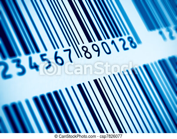 Macro view of barcode - csp7826077