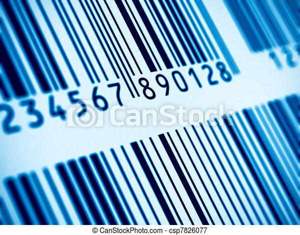 Macro view of barcode - csp7826077