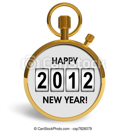 New Year 2012 concept - csp7826079