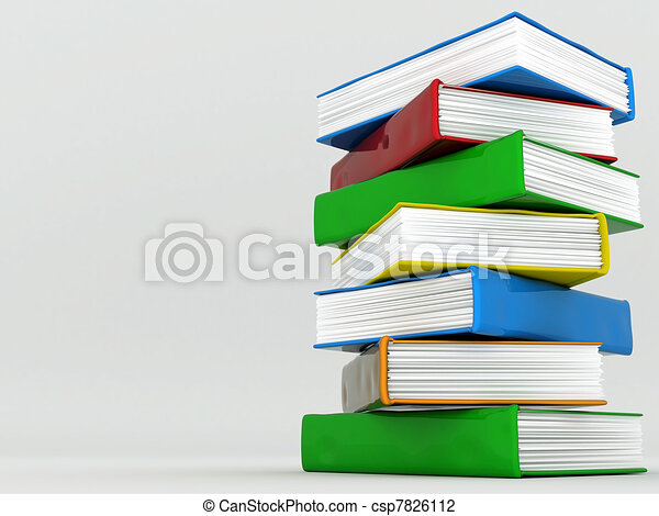 Books bindings and Literature - csp7826112