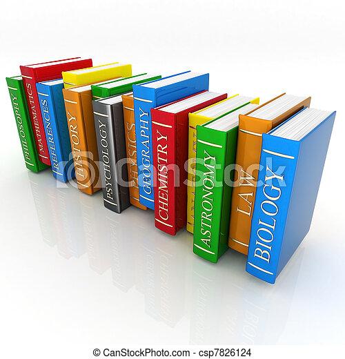 Books bindings and Literature - csp7826124