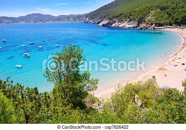 Ibiza Cala de Sant Vicent caleta de san vicente - csp7826422