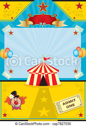 Circus on the beach - csp7827030