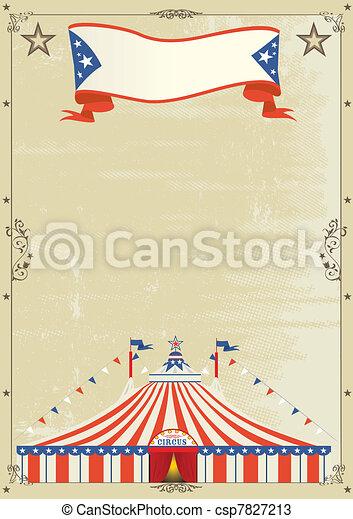 Old Circus grunge poster - csp7827213