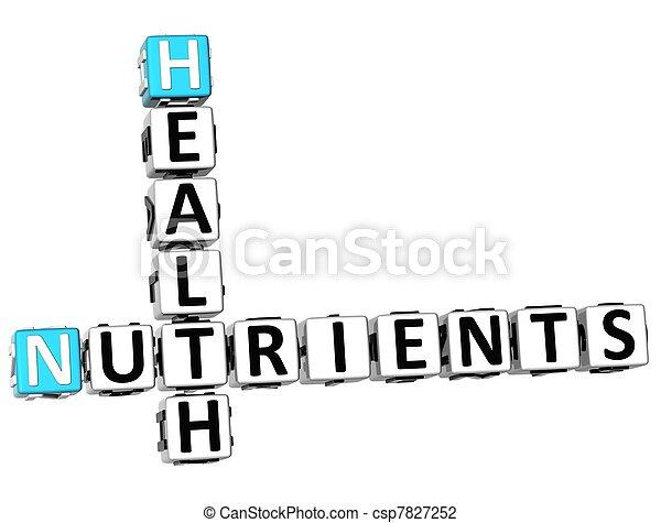 3D Health Nutrients Crossword - csp7827252