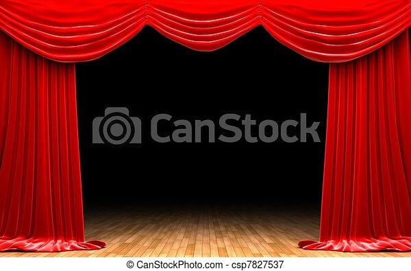 illustrations de rideau velours sc 232 ne rouges ouverture rouges velours csp7827537