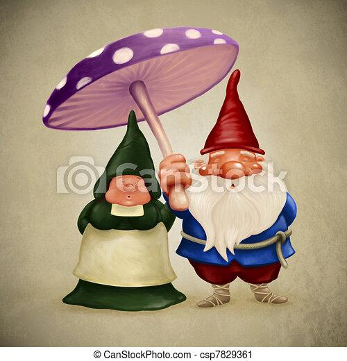 Spouses gnomes - csp7829361