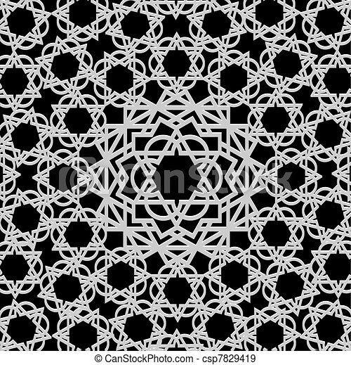 Arabic geometric pattern - csp7829419