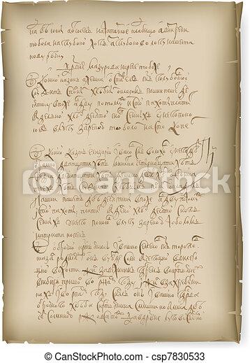 An old manuscript - csp7830533