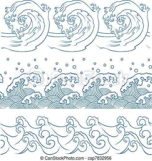 ocean wave set - csp7832956