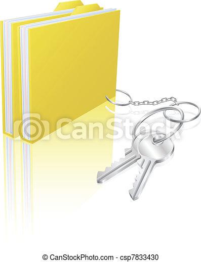 Computer file keys document security concept - csp7833430