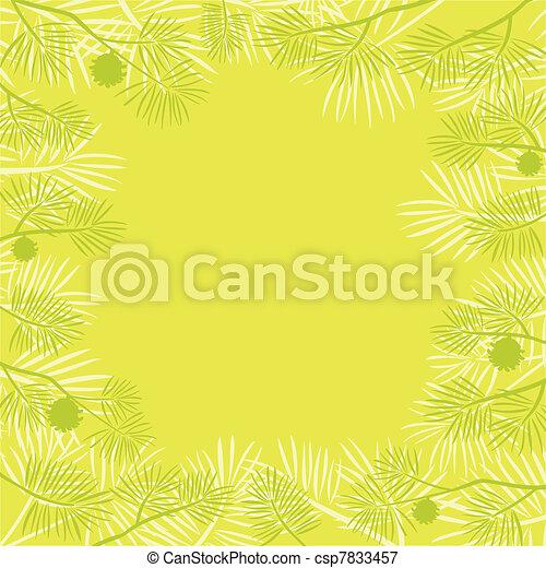 Pine branch, background - csp7833457