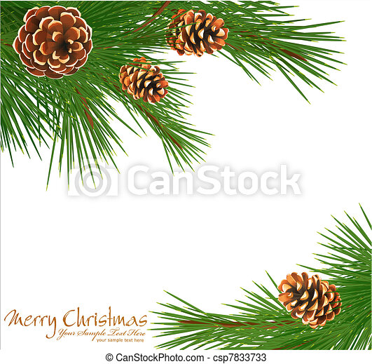 Festive background with gree spruce - csp7833733