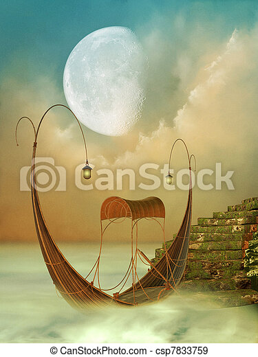 Fantasy Landscape - csp7833759