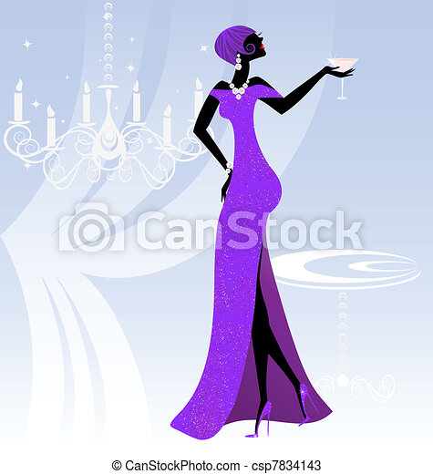 lady in violet - csp7834143