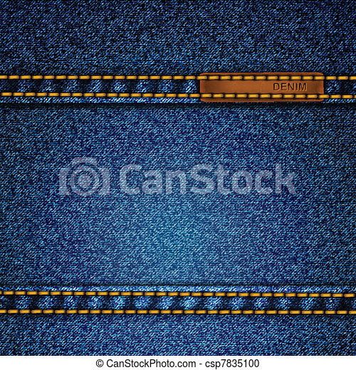 Realistic vector denim background.  - csp7835100