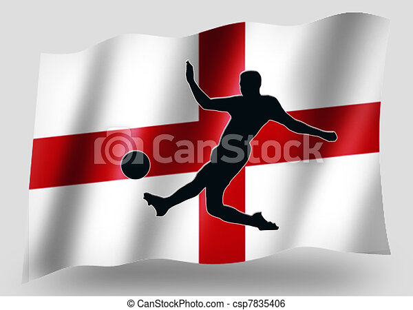 Country Flag Sport Icon Silhouette English Soccer - csp7835406