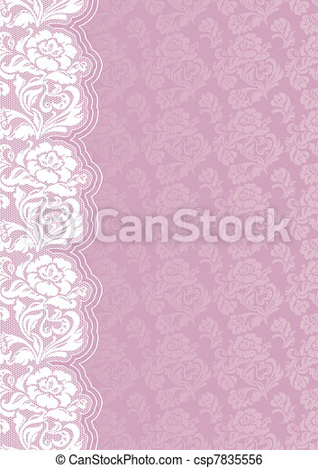 Flower backdrop with lace - csp7835556
