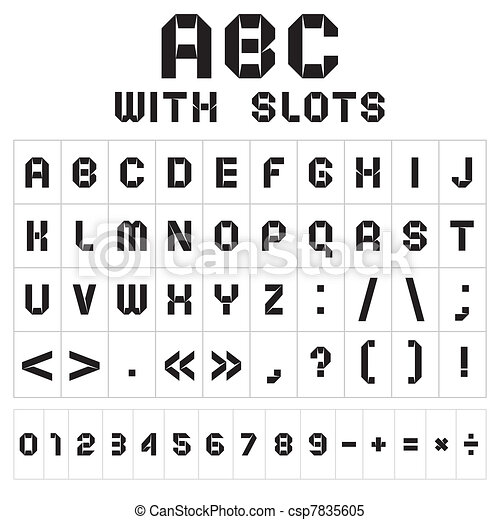 Font with slots - csp7835605