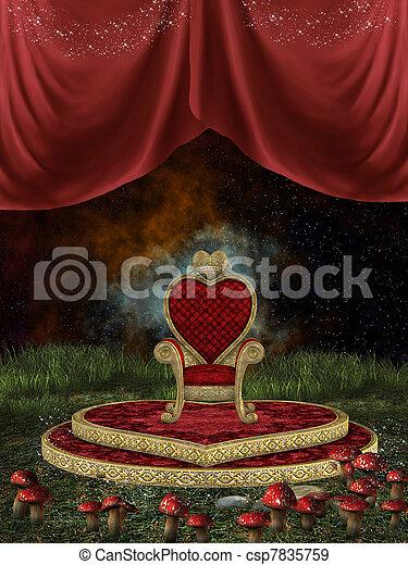 Magic throne  - csp7835759