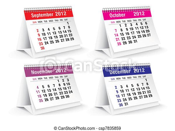 2012 desk calendar - csp7835859