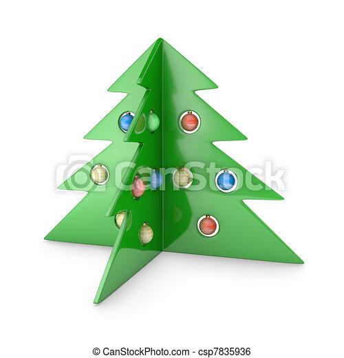 Plastic pine tree - csp7835936