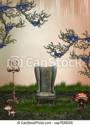 fantasie, landschaftsbild - csp7836029