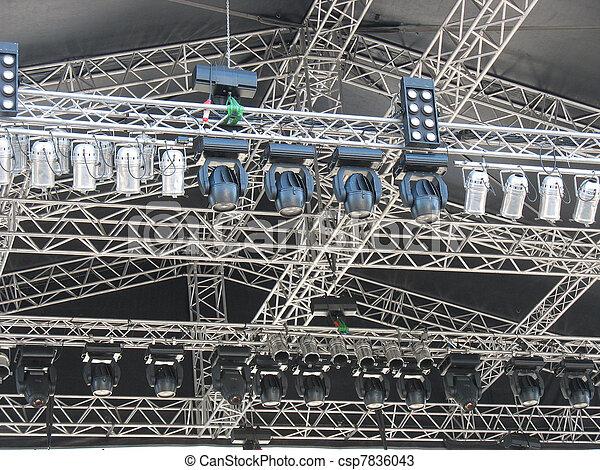structures of stage illumination lights equipment - csp7836043