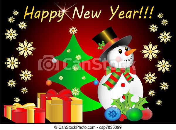 happy new year - csp7836099