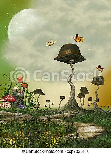 fantasie, landschaftsbild - csp7836116