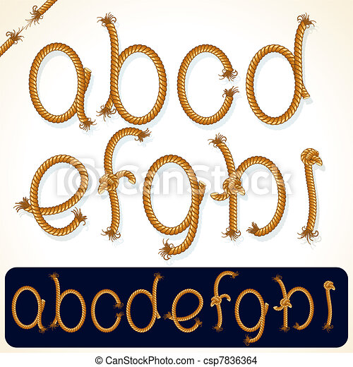 Rope Alphabet 1 - csp7836364