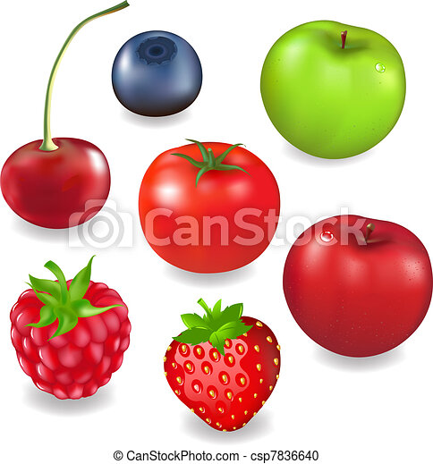 Collection Fruits And Berries - csp7836640