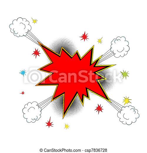 Explosion icon comic style - csp7836728