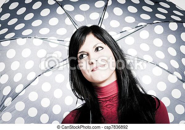 optimist girl - csp7836892