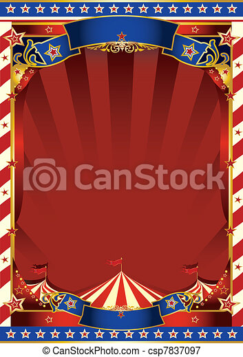 american old striped circus  - csp7837097