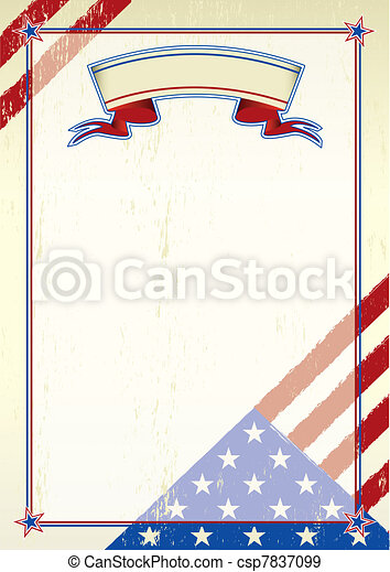 American scratched letter - csp7837099