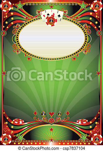 Baroque casino background - csp7837104